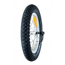 """Takairtopyörä renkaineen 12.5"""" (Freeride)"""