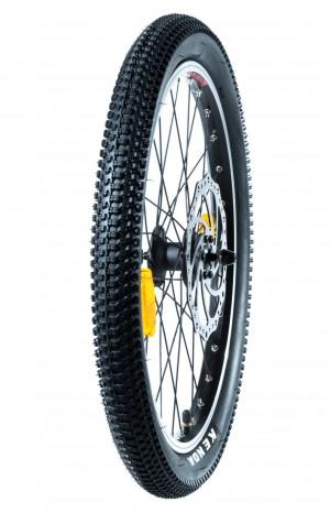 """Takairtopyörä renkaineen ja jarrulevyllä 20"""" (Cross MAX 20D/Cross MAX 20HD)"""